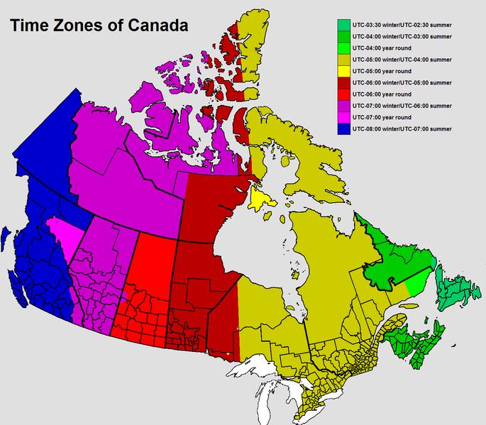 Fuso orario Canada