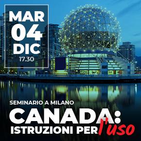 CANADA: ISTRUZIONI PER L'USO: seminario a Milano
